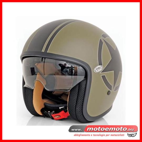 Motorcycle Helmet Fiber Premier Jet Vintage Star Military