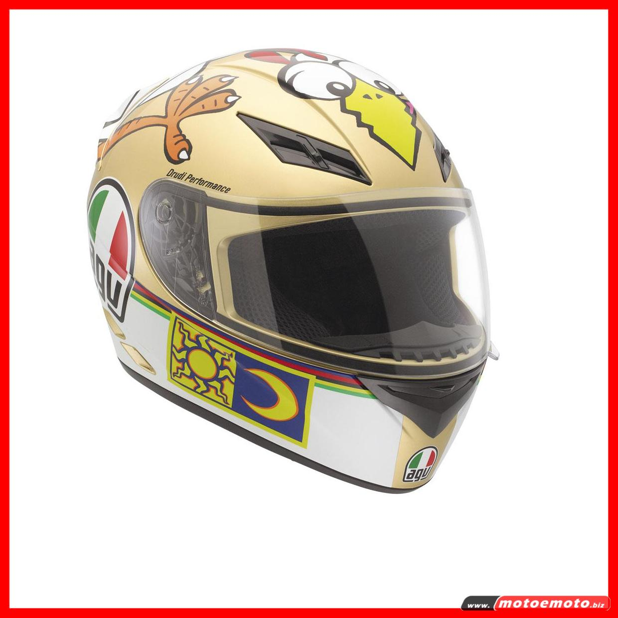 Casco-Moto-Integrale-Agv-K3-Top-The-Chicken-Valentino-Rossi-46-Scooter