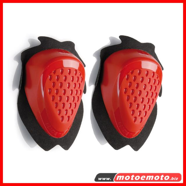 COPPIA SAPONETTE KNEE SLIDERS UNIVERSALI ROSSE LIGHTECH DROPPER PER TUTA MOTO