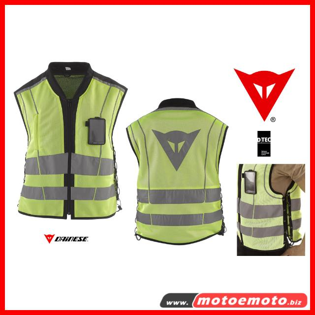 gilet moto dainese high visibility pro giallo fluo alta visibilita smanicato. Black Bedroom Furniture Sets. Home Design Ideas