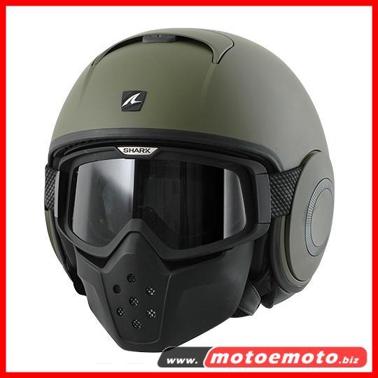 Motorcycle Helmet Shark Raw GMA Jet Streetfighter Mat