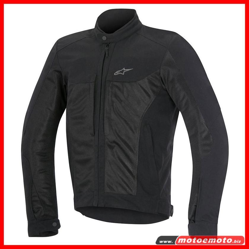 Dettagli su Alpinestars Giacca moto Estiva Luc Air Nera Traforata protezioni Black