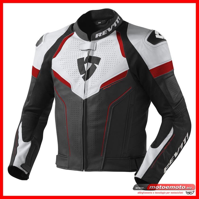 NUOVA COMBINATA Moto Giacca Pantaloni in pelle e tessuto con protezioni Nero Rosso