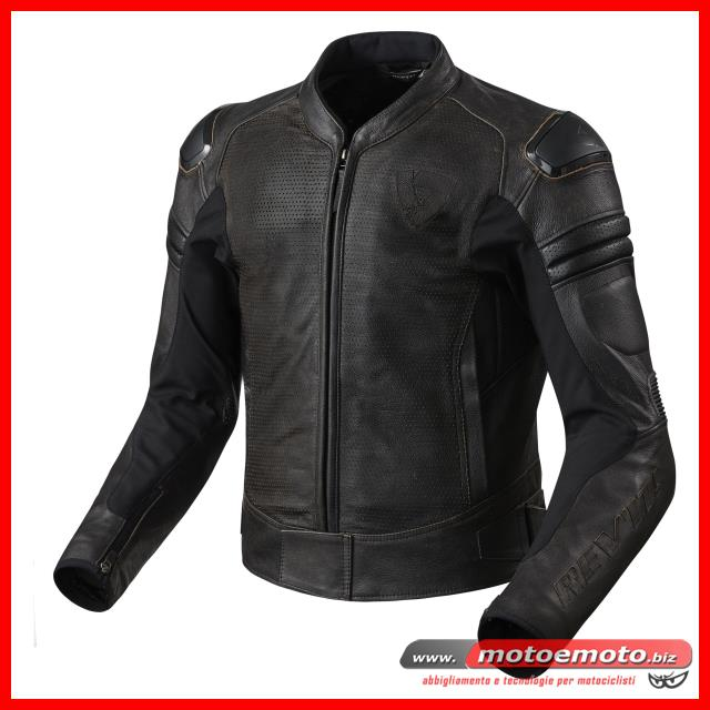 brand new 52f05 83815 Dettagli su Giacca Moto Pelle Rev'it Akira Vintage Air Dark Brown Revit  Cafè Custom Touring