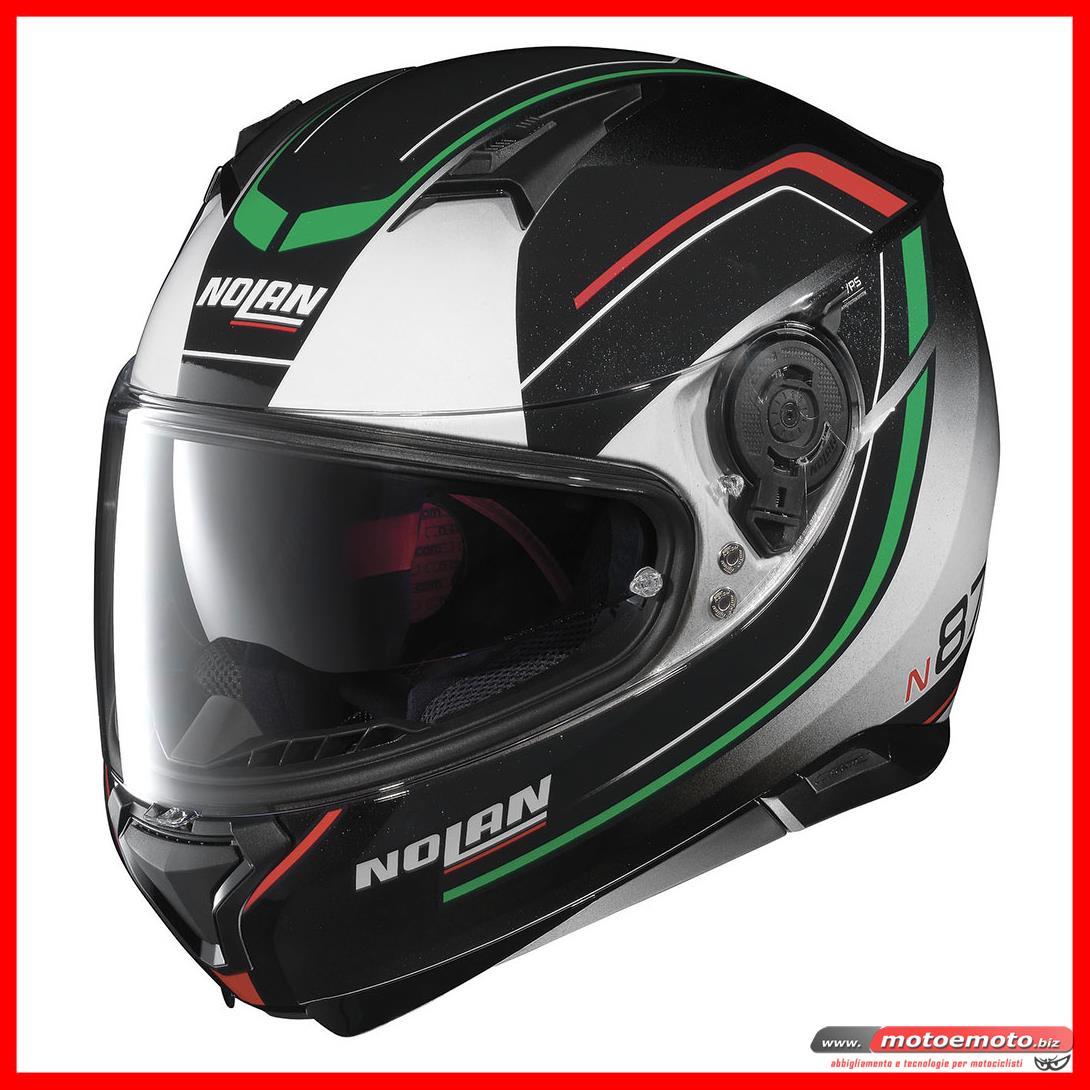 Nolan Casco integrale N87 Ledlight N-COM 030 L Rosso