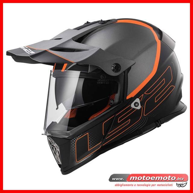 LS2 Caschi moto PIONEER MATT TITANIUM