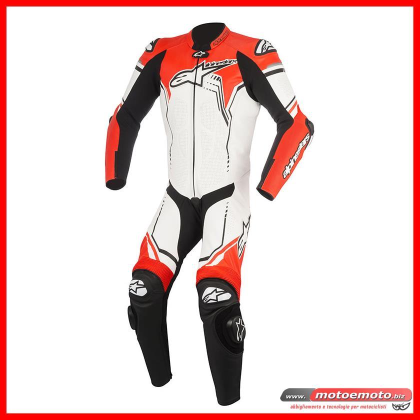 9856a458b2b152 MOTO E MOTO | Abbigliamento » Tute Intere » Alpinestars » Alpinestars Tuta Gp  Plus V2 Bianco Rosso Fluo 233 PROMO