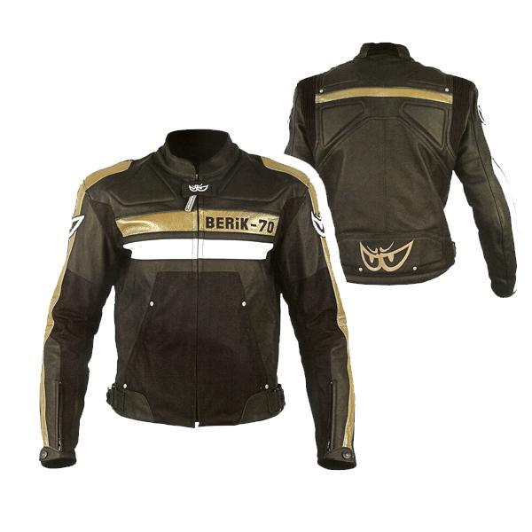 giacche moto donne nero oro