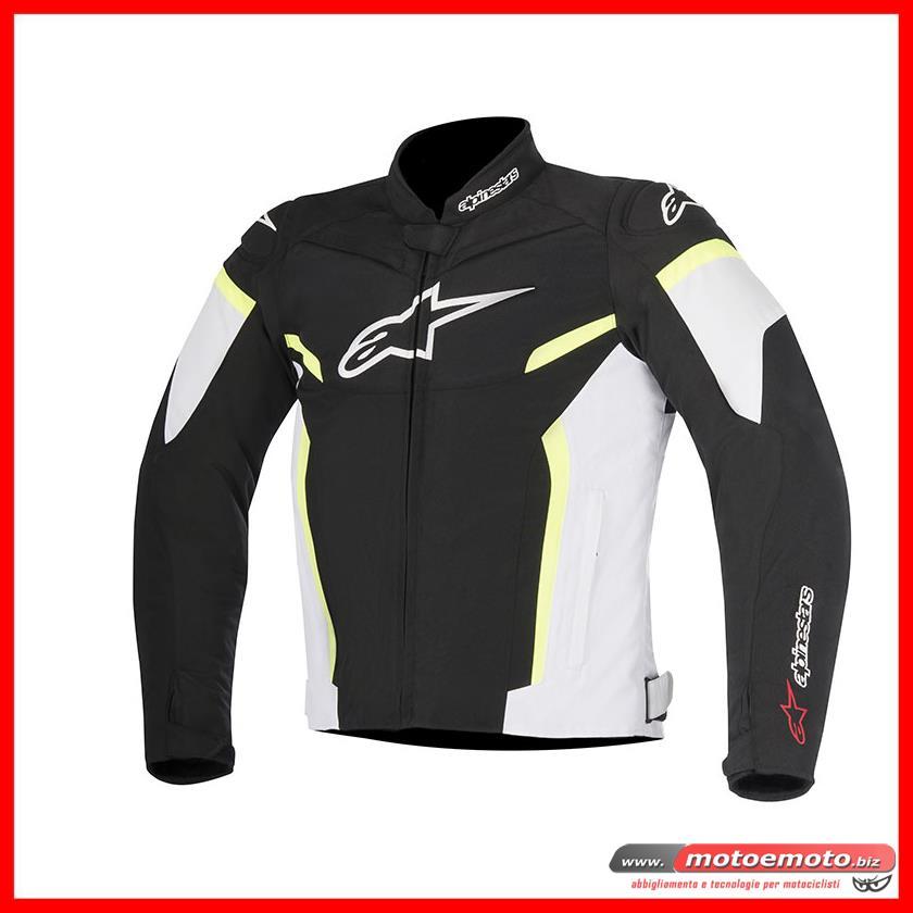 Alpinestars Giubbotto Moto T-GP Plus R V2 Nero Bianco Giallo Fluo