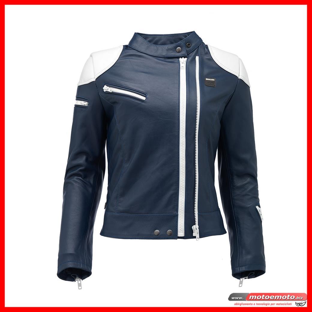 outlet store 24622 2e174 MOTO E MOTO   Abbigliamento Donna » Giacche Pelle » Blauer ...